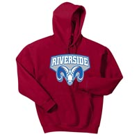 Heavy Blend Hooded Sweatshirt - Red