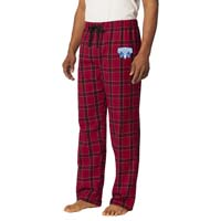 Young Men's Flannel Plaid Pants - Red