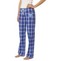 Ladies (Juniors) Flannel Plaid Pants - Royal