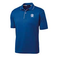 STAFF - Men's Dri-Mesh Polo - Royal with White Piping