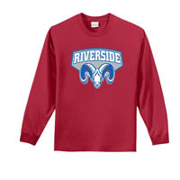Riverside Long Sleeve T-shirt - Red