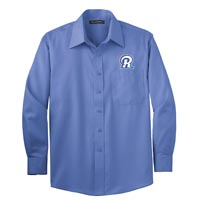 STAFF - Men's Long Sleeve Twill Shirt - Ultramarine Blue
